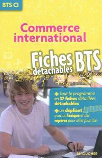 Commerce international : BTS : fiches détachables