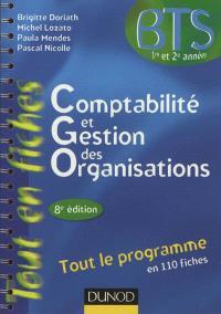 Comptabilité et gestion des organisations, BTS 1re et 2e années : tout le programme en 110 fiches