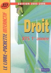 Droit BTS 1re année : 2005-2006