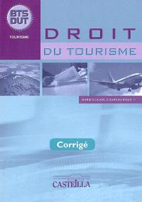 Droit du tourisme BTS, DUT tourisme : corrigé