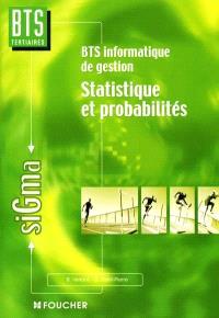 Statistiques et probabilités, BTS informatique de gestion : nouveau programme 2001