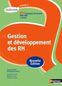 Gestion et développement des RH, activité 3 : BTS assistant de gestion PME-PMI, 2e année