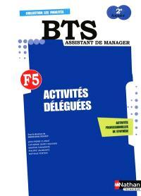 Activités déléguées, BTS assistant manager 2e année : livre de l'élève