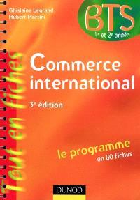 Commerce international, BTS 1re et 2e années : le programme en 80 fiches
