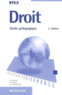 Droit BTS : guide pédagogique