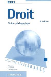 Droit BTS 1 : guide pédagogique