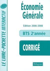 Economie générale, BTS tertiaires 2e année : corrigé