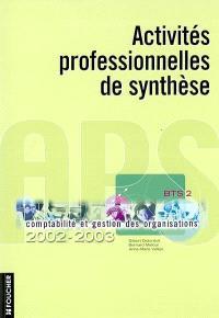 Activité professionnelle de synthèse : BTS 2