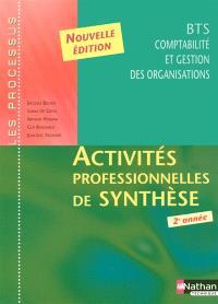 Activités professionnelles de synthèse : BTS CGO 2e année