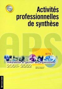 Activités professionnelles de synthèse APS, BTS 1 : 2001-2002