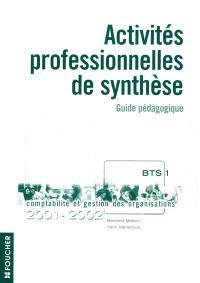 Activités professionnelles de synthèse APS, BTS 1re année : guide pédagogique