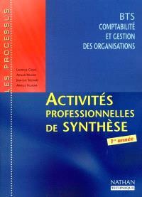 Activités professionnelles de synthèse, BTS CGO 1re année : livre de l'élève
