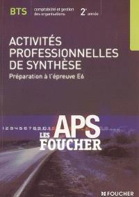 Activités professionnelles de synthèse, préparation à l'épreuve E6