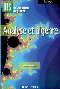 Analyse et algèbre, BTS informatique de gestion
