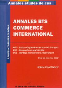 Annales BTS commerce international