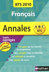 Annales BTS Français