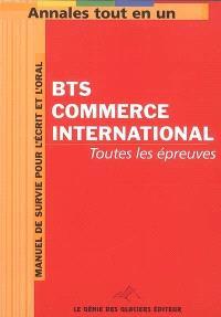 Annales tout en 1 pour BTS Commerce international