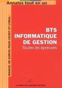 Annales tout en 1 pour BTS Informatique de gestion