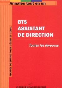 BTS assistant de direction : toutes les épreuves