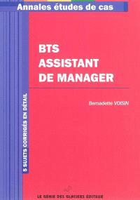 BTS assistant de manager : 5 sujets corrigés en détail
