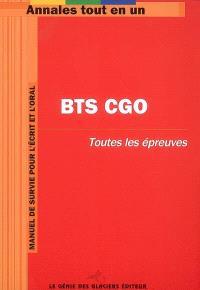 BTS CGO : toutes les épreuves