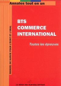 BTS commerce international : toutes les épreuves