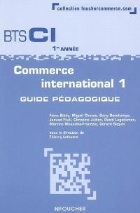 Commerce international 1, BTS CI 1re année : guide pédagogique