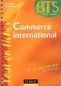 Commerce international, BTS 1re et 2e années
