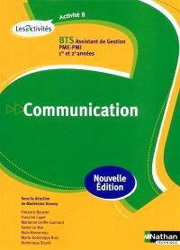 Communication, activité 8 : BTS assistant de gestion PME-PMI, 1re et 2e années