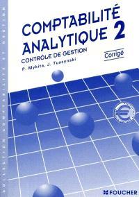 Comptabilité analytique, BTS 2e année : corrigé