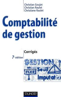 Comptabilité de gestion : corrigés