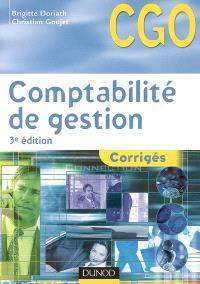 Comptabilité de gestion : corrigés : processus 7, détermination et analyse des coûts