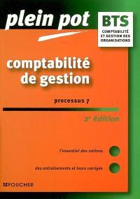 Comptabilité de gestion, BTS comptabilité et gestion des organisations : processus 7