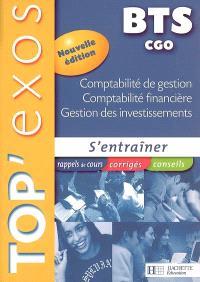 Comptabilité de gestion, comptabilité financière, gestion des investissements, BTS CGO