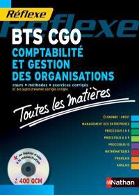 Comptabilité et gestion des organisations : toutes les matières du BTS CGO