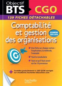Comptabilité et gestion des organisations, BTS CGO : 139 fiches détachables