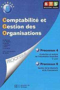 Comptabilité et gestion des organisations, BTS deuxième année. Volume 5
