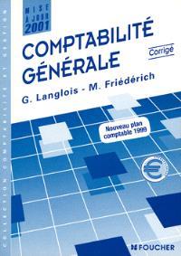 Comptabilité générale : corrigé