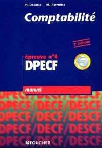 Comptabilité, DPECF, épreuve n° 4 : manuel