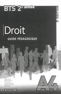 Droit : BTS 2e année : guide pédagogique