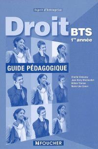 Droit, BTS 1re année : guide pédagogique