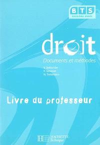 Droit, BTS 2e année : livre du professeur