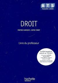 Droit, BTS première année : livre du professeur