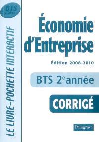 Economie d'entreprise BTS tertiaires 2e année : livre du professeur : édition 2008-2010