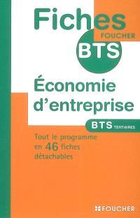 Economie d'entreprise, BTS tertiaires