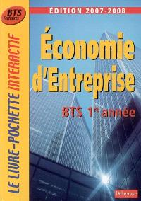 Economie d'entreprise, BTS tertiaires 1re année