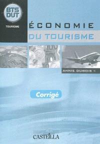 Economie du tourisme, BTS DUT tourisme : corrigé