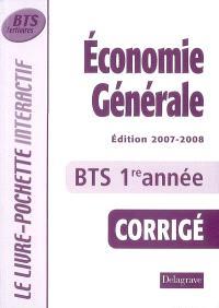 Economie générale, BTS tertiaires 1re année : corrigé