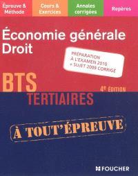 Economie générale, droit, BTS tertiaires