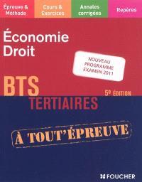 Economie, droit, BTS tertiaires : nouveau programme examen 2011